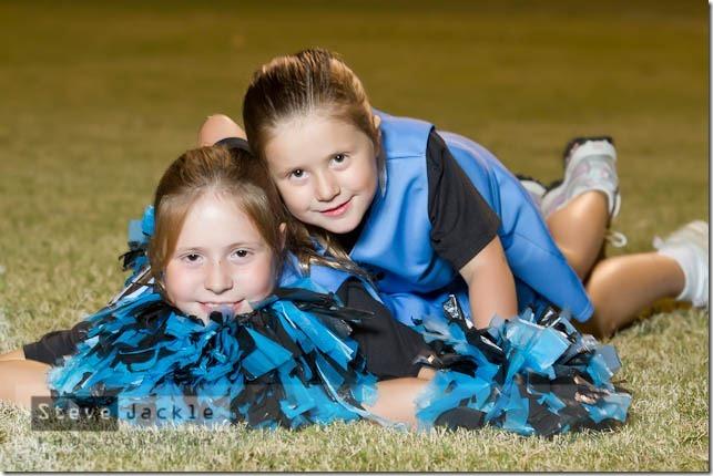 Cheerleading sister portrait.